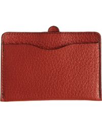 Barneys New York Contrast Stitch Card Case - Lyst