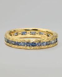Elizabeth Showers - Pave Blue Sapphire Ring - Lyst