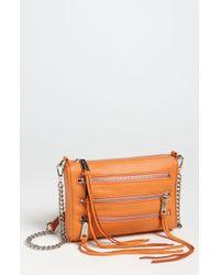 Rebecca Minkoff 5 Zip Mini Crossbody Bag - Lyst