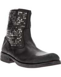 HTC - Studded Biker Boot - Lyst