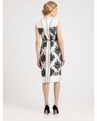 Marc Jacobs Belted Lace Dress - Lyst