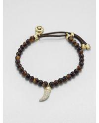 Michael Kors Tortoise Bead Bracelet - Lyst