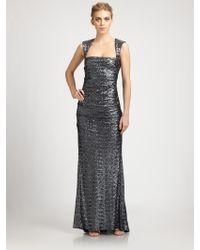 Nicole Miller Sequined Felicity Gown - Lyst