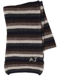 Armani Jeans - Striped Wool Knit Scarf - Lyst