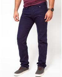 Diesel Jeans Darron 8Qu Slim Fit Dark Navy - Lyst