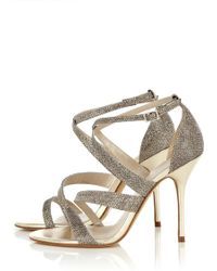 Karen Millen Crystal Glitter Sandal - Lyst