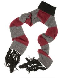 Les Hommes - Ribbed Turtle Neck with Fringed Scarf - Lyst
