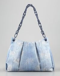 Nancy Gonzalez Crocodile Python Shoulder Bag Blue - Lyst