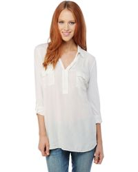 Splendid Shirting Sleeveless Button Down white - Lyst
