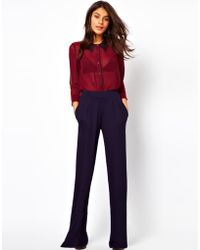 Asos Trouser with Wide Leg - Lyst
