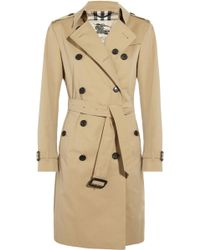 Burberry Cottontwill Longlength Trench Coat - Lyst