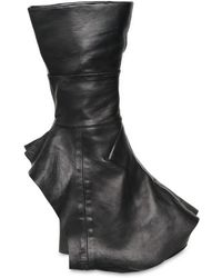 Camilla Skovgaard - 120mm Covered Open Toe Boot Wedges - Lyst