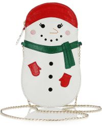 Charlotte Olympia Frostie Embroidered Leather Clutch multicolor - Lyst