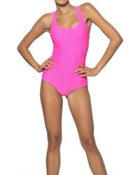 Fausto Puglisi - Lycra Bodysuit Swimsuit - Lyst