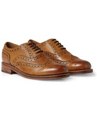 Grenson Stanley Leather Wingtip Brogues - Lyst