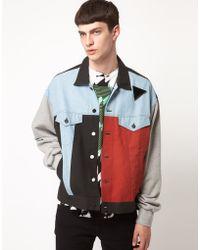 Horace - Denim Jacket with Patchwork Detail - Lyst