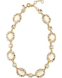 J.Crew Crystal Color Mix Gold Plated Glass Stone Necklace - Lyst
