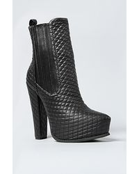 Jeffrey Campbell The Avalos Boot in Black Quilt - Lyst