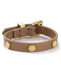 Marc By Marc Jacobs Turnlock Leather Wrap Bracelet - Lyst