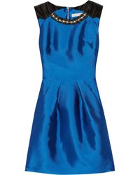 Matthew Williamson Crystal Embellished Cotton and Silk Blend Dress - Lyst