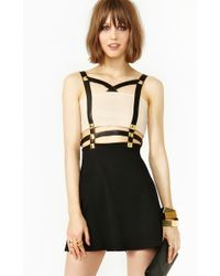 Nasty Gal Harness Stud Dress - Lyst