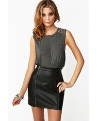 Nasty Gal Spiked Muscle Tee - Lyst