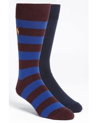 Polo Ralph Lauren Cotton Blend Socks 2pack - Lyst