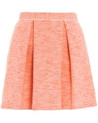 Sea Tweed Mini Skirt - Lyst