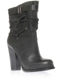 Vintage America - Lace and Buckle Ankle Boot - Lyst
