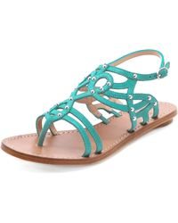 Belle By Sigerson Morrison Roma Stud Sandals - Lyst