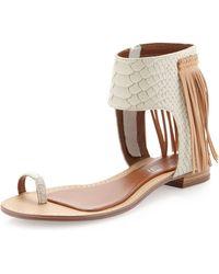 Boutique 9 Ankle Fringe Flat Sandal - Lyst
