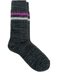 Calvin Klein Ribbed Stripe Socks - Lyst