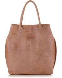 Gianfranco Ferré - Large Washed Leather Tote Bag - Lyst