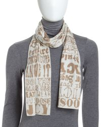 Juicy Couture - Graffiti Knit Scarf - Lyst