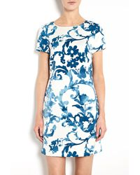 Moschino Cheap & Chic Pottery Print Crepe T-shirt Dress - Lyst