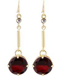 R.j. Graziano Linear Stone Drop Earrings - Lyst