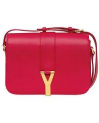 Saint Laurent Chyc Brushed Leather Shoulder Bag - Lyst