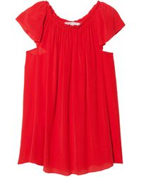 See By Chloé Pleated Neck Blouse - Lyst