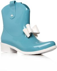 Melissa + Vivienne Westwood Anglomania - Short Wellington Boots - Lyst