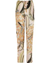 Emilio Pucci Printed Silk-Voile Pants - Lyst