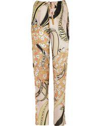 Emilio Pucci Printed Silk-Voile Pants floral - Lyst