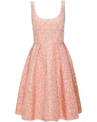 Giles  Jacquard Pleated Dress - Lyst