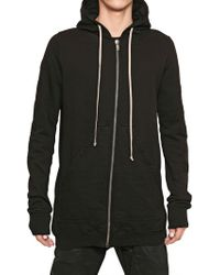 Rick Owens Cotton Fleece Oversized Sweatshirt - Lyst