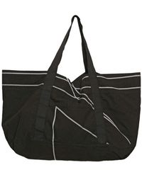 Rick Owens Grosgrain Striped Canvas Beach Bag - Lyst