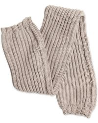 Rick Owens Thick Cotton Ribbed Knit Leg Warmers - Lyst