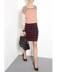 Sonia by Sonia Rykiel Jersey Bodycon Striped Skirt - Lyst
