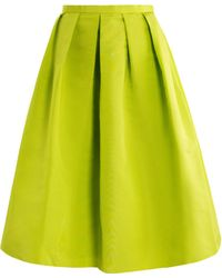 Tibi Neon Pleated Skirt - Lyst
