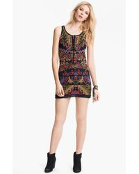 Free People Embroidered Minidress - Lyst