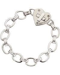 Juicy Couture - Turnlock Heart Starter Bracelet - Lyst