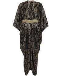 Michael Kors Lamé Kaftan Gown - Lyst